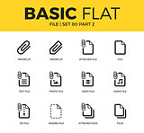 Basic set of file icons