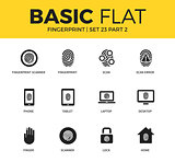 Basic set of Fingerprint icons