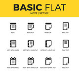 Basic set of Note icons
