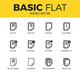 Basic set of notes icons