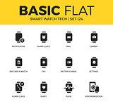 Basic set of Smart watch tech icons