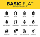 Basic set of Smart watch icons