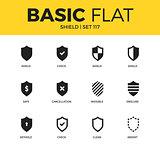 Basic set of Shield icons