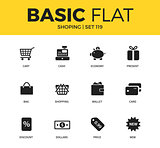 Basic set of Shopping icons
