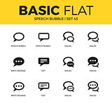 Basic set of Speech bubble icons