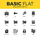 Basic set of Real estate icons