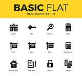 Basic set of Real estate icons