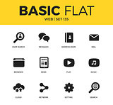 Basic set of web icons