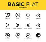 Basic set of time icons