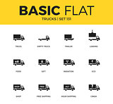 Basic set of Trucks icons