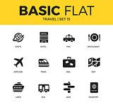 Basic set of Travel icons