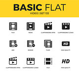 Basic set of Video icons