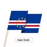 Cape Verde Ribbon Waving Flag Isolated on White. Vector Illustration.
