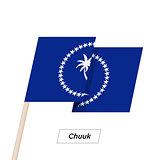 Chuuk Ribbon Waving Flag Isolated on White. Vector Illustration.