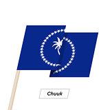 Chuuk Ribbon Waving Flag Isolated on White. Vector Illustration.