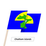 Chatham Islands Ribbon Waving Flag Isolated on White. Vector Illustration.