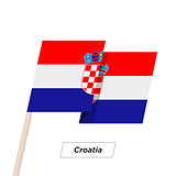Croatia Ribbon Waving Flag Isolated on White. Vector Illustration.