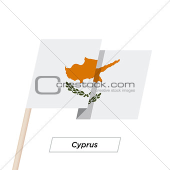 Cyprus Ribbon Waving Flag Isolated on White. Vector Illustration.