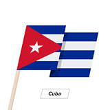 Cuba Ribbon Waving Flag Isolated on White. Vector Illustration.
