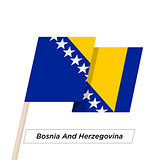 Bosnia and Herzegovina Ribbon Waving Flag Isolated on White. Vector Illustration.