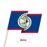 Belize Ribbon Waving Flag Isolated on White. Vector Illustration.