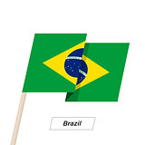 Brazil Ribbon Waving Flag Isolated on White. Vector Illustration.
