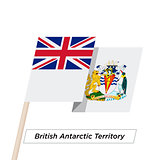 British Antarctic Territory Ribbon Waving Flag Isolated on White. Vector Illustration.