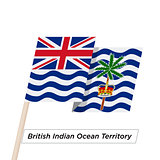 British Indian Ocean Territory Ribbon Waving Flag Isolated on White. Vector Illustration.