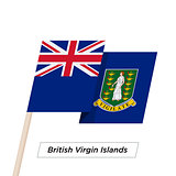 British Virgin Islands Ribbon Waving Flag Isolated on White. Vector Illustration.