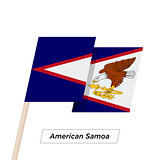 American Samoa Ribbon Waving Flag Isolated on White. Vector Illustration.