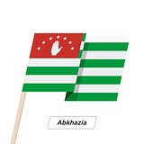 Abkhazia Ribbon Waving Flag Isolated on White. Vector Illustration.