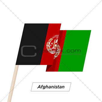 Afghanistan Ribbon Waving Flag Isolated on White. Vector Illustration.