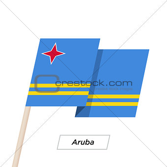 Aruba Ribbon Waving Flag Isolated on White. Vector Illustration.