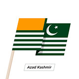 Azad Kashmir Ribbon Waving Flag Isolated on White. Vector Illustration.