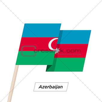 Azerbaijan Ribbon Waving Flag Isolated on White. Vector Illustration.