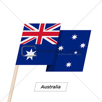 Australia Ribbon Waving Flag Isolated on White. Vector Illustration.