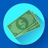 Flat icon of money vector