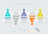 Colorful modern infographic options