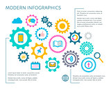 Modern vector infographic design template