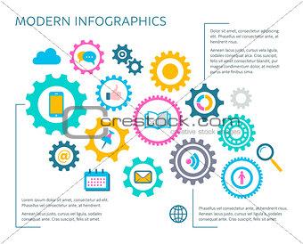 Modern vector infographic design template