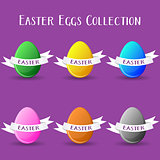 Vector easter eggs collection