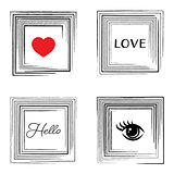 Vector vintage card with decorative frames