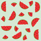 Seamless pattern with elements of watermelons