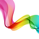 Abstract wave vector background, rainbow waved lines