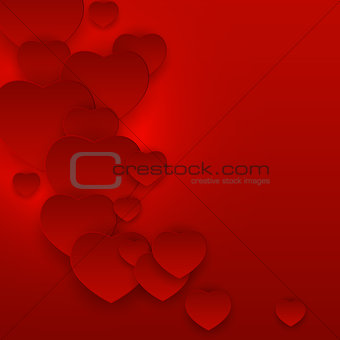 Valentine s Day Heart Symbol Gift Card. Love and Feelings Backgr