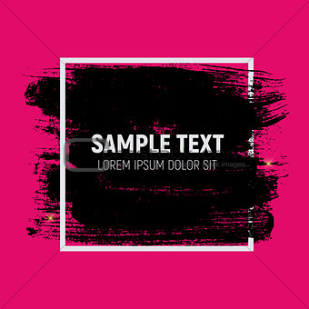Abstract Brush Stroke Designs in Black, Pink and White Texture w
