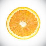 Vector Polygonal Orange Fruit Icon