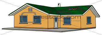 Small yellow house