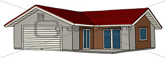 Small low house