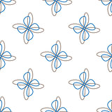 Abstract flower white seamless background